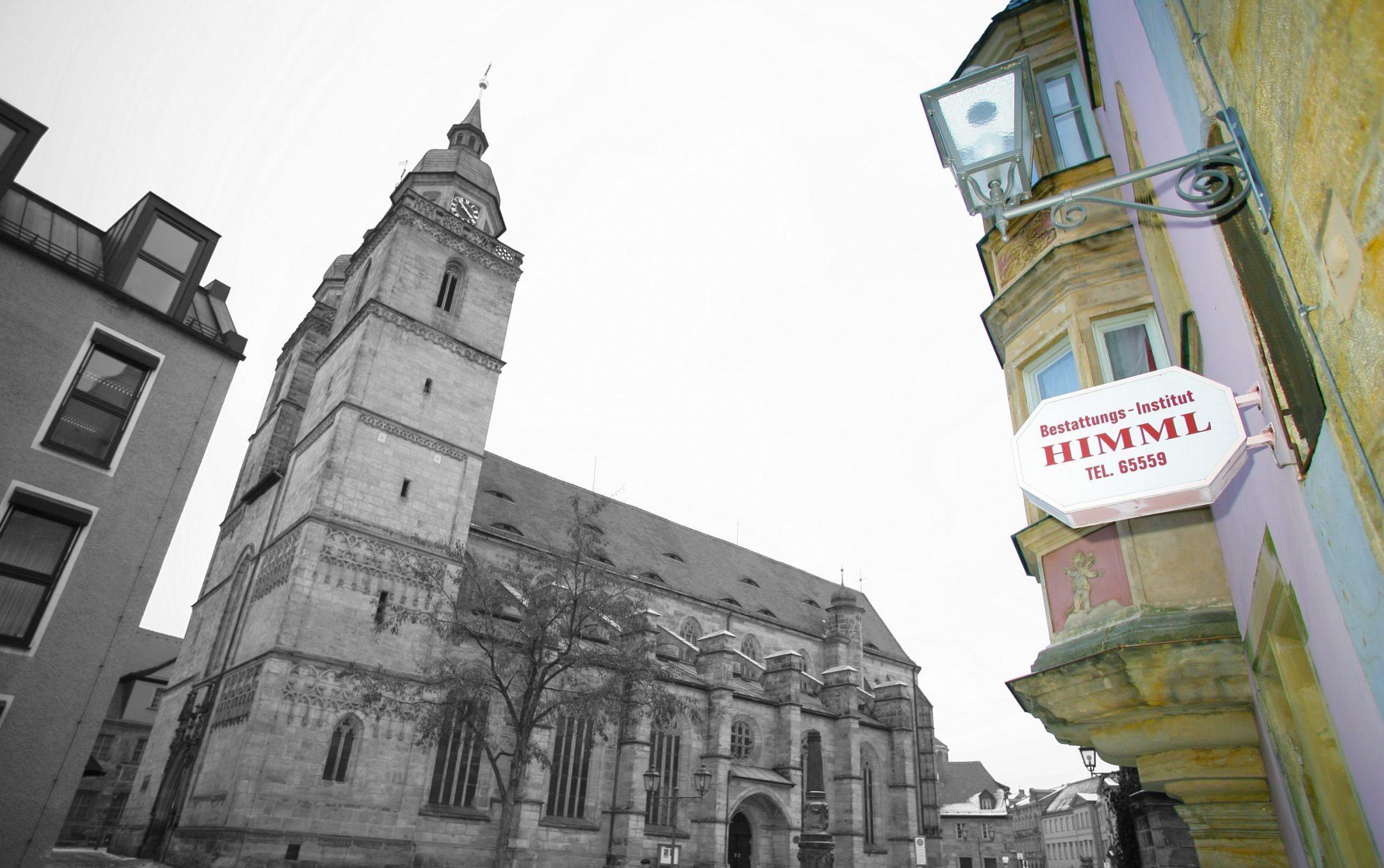 Himml mit Stadtkirche Bayreuth