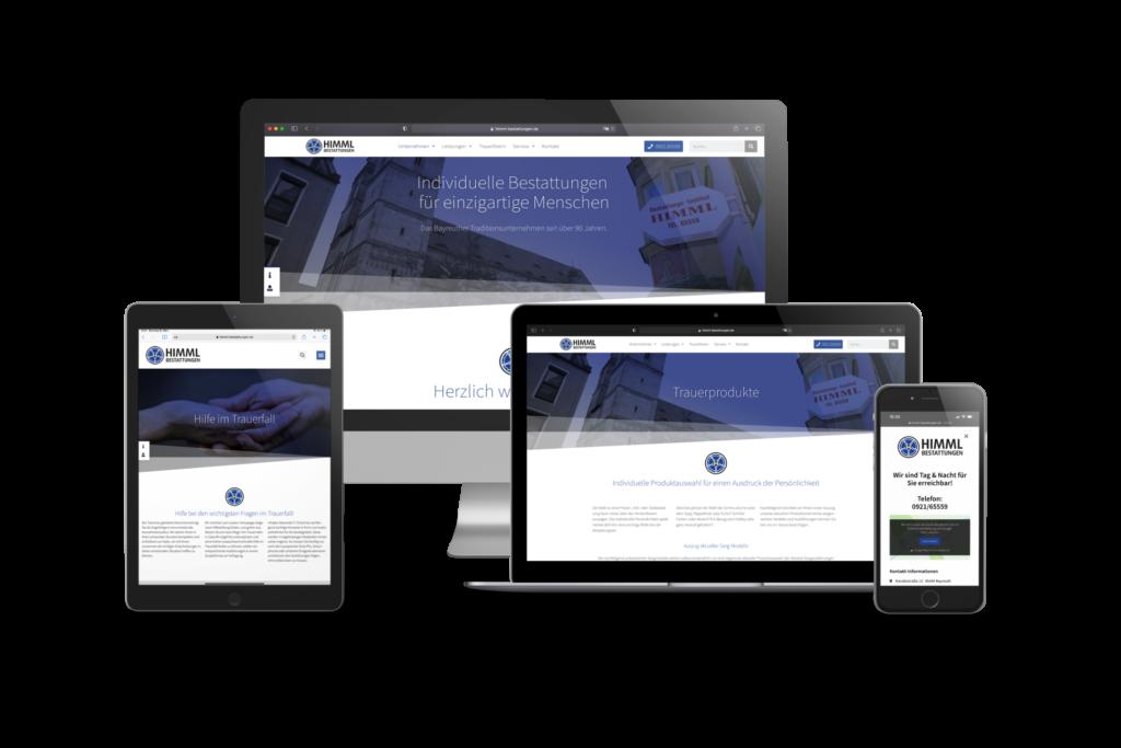 Himml Homepage auf Endgeräten